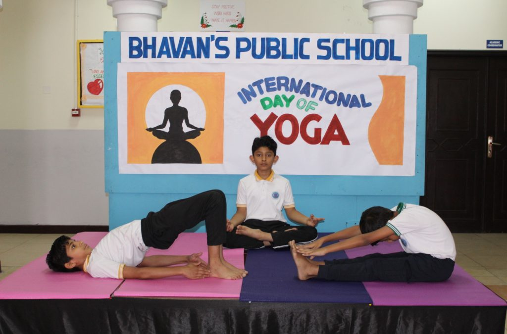 Bhavan's Doha, Qatar  Celebrated World Yoga Day with plethora of activities.
